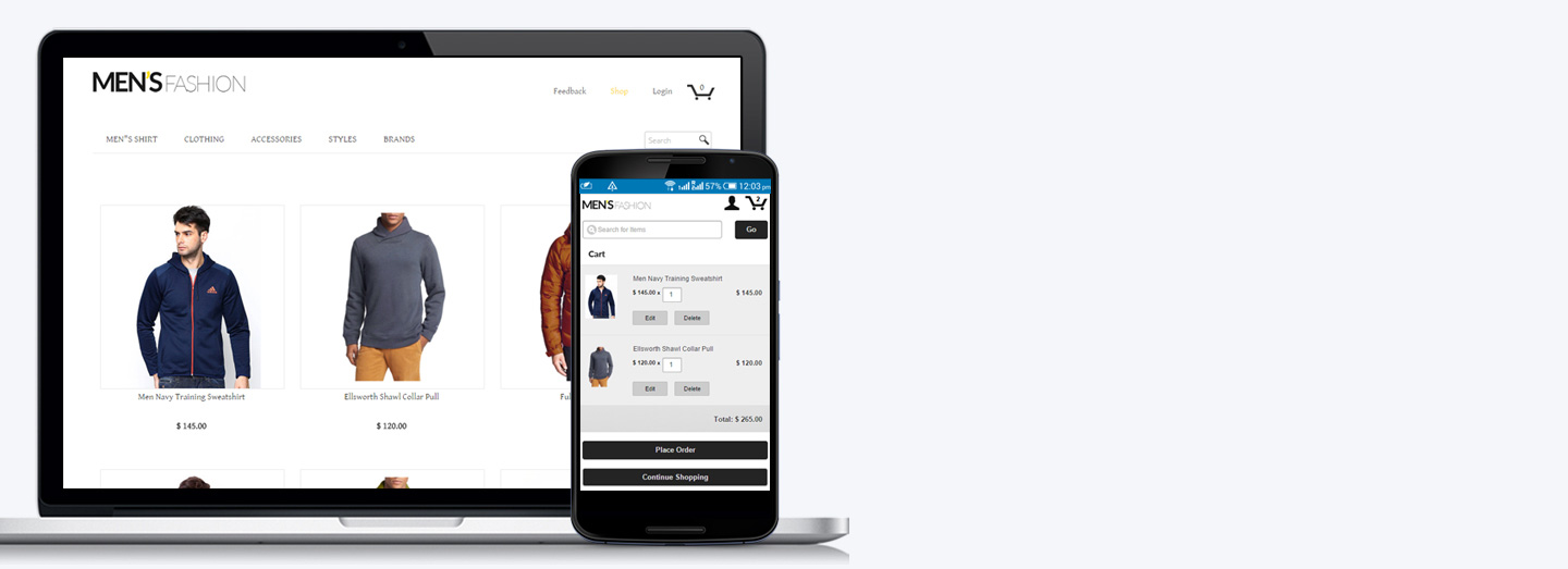 Launch a sophisticated website or facebook store in minutes with SalesVu ECommerce
