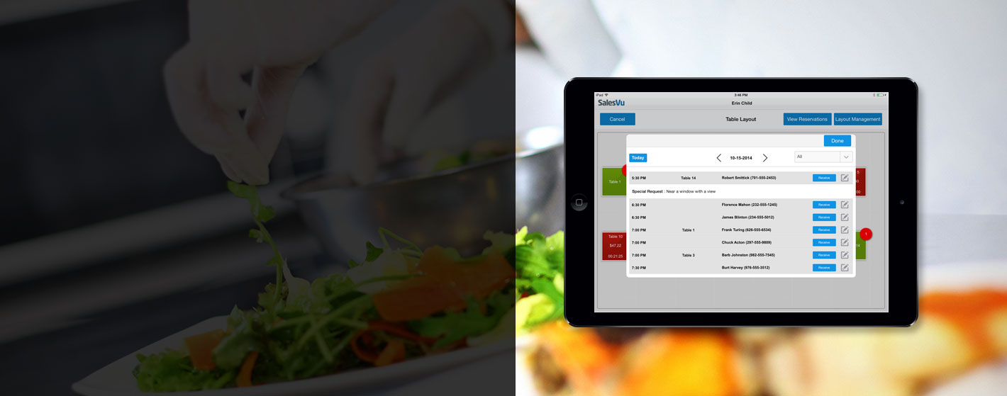 Table Management Software Solutions For Restaurants SalesVu - Restaurant table management system